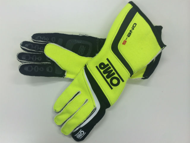 OMP RacingGloves One S yellow